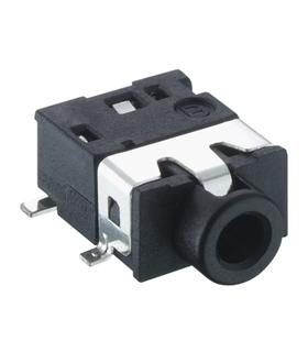 Ficha Jack 2.5mm 4 Polos Stereo Fêmea Para CI - 69J2SFCI4