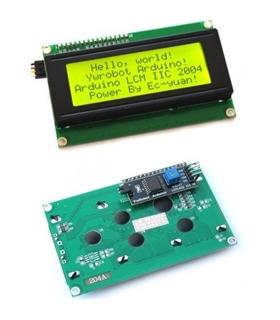 Display LCD Verde 20x4 Serial IIC/I2C Para Arduino - LCD20X4ARD