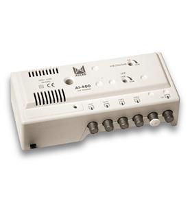 Amplificador para interior 1 ent, 4 sal, UHF - AI-400