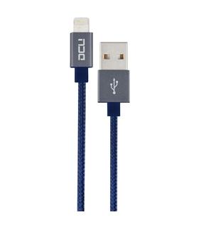 DCU34101250 - Cabo Lightning / USB 2mt Azul Algodao - DCU34101250