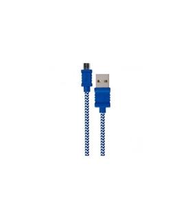 DCU30401220 - Cabo USB A/ Micro USB 1mt Azul/Branco - DCU30401220