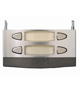 Módulo de placa de rua com 2 pulsadores duplos - MPD-002
