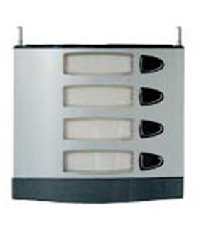 Módulo de placa de rua com 4 pulsador simples - MPS-004