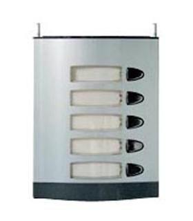 Módulo de placa de rua com 5 pulsador simples - MPS-005