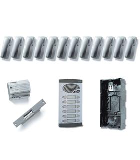 Kit de 6 pulsadores duplos, com sistema de chamada 4+N - KAD-41006