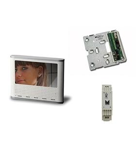 Conjunto monitor cores mãos livres adicional, sistema 2 fios - KMC-12600