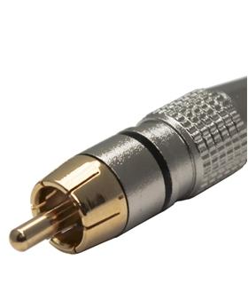 Ficha RCA Macho Preta Metalica Dourada - FPS401A