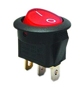 Interruptor Basculante 1 Circuito Vermelho Luminoso - MX51741