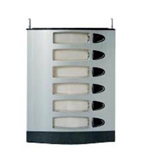 Módulo de placa de rua com 6 pulsadores simples - MPS-006