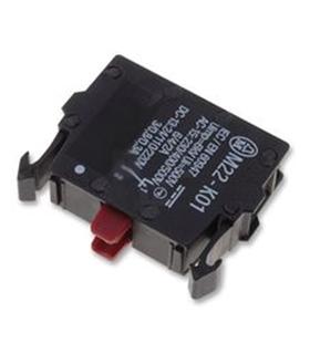 M22K01 - Bloco Contacto, 1NC, 6 A, 500 V, 1 Pole, M22 Series - M22K01