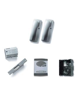 Kit de 1 pulsador duplo, com sistema de chamada 4+N - KAD-41001