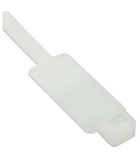 Abraçadeira Plástica Branca 200x4.8mm com Marcaçao - BRPM20048