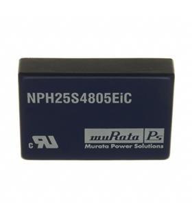 NPH25S4805EiC - Conversor DC/DC 25W 48Vin 5.1VOut - NPH25S4805EIC