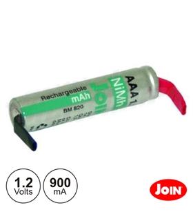 169R3900CP - Bateria Ni-Mh AAA 1.2V 900mA Com Patilhas - 169R3900CP