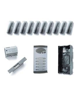 Kit de 5 pulsadores duplos, com sistema de chamada 4+N - KAD-41005