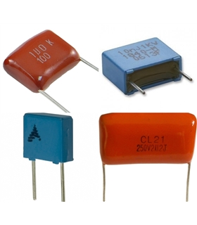 Condensador Poliester 100nF X2 250VAC - 316100F