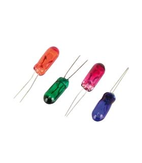 Lâmpada 12V Vermelho Com Fios 100mA - L12VE