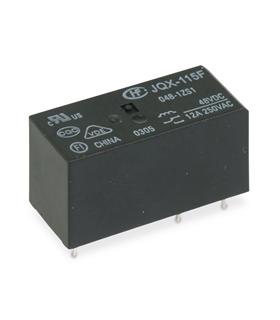 JQX-115F - Relé 48VDC, 12A, 1Inv - JQX115F