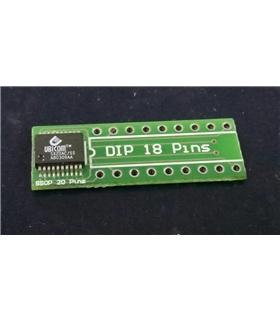 SX20AC/SS - Circuito Integrado SSOP 20 em Adaptador DIP18 - SX20