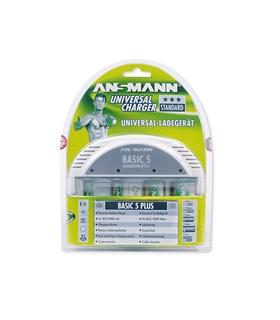 Ansmann Basic 5 Plus-Carregador de Pilhas AAA, AA, C, D e 9V - 5207303
