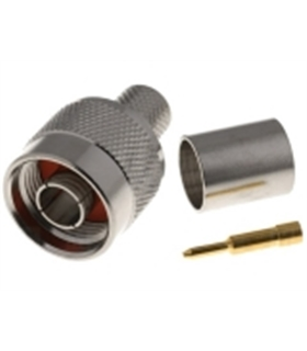 Ficha N de cravar macho para cabo RG213 Ø10.3mm - 69NCCG