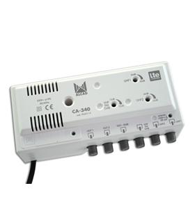 Amp. de cabeceira 3 ent, 2 sal, UHF-UHF-VHF/FM,rejeição LTE - CA-340