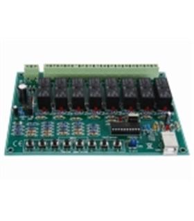 Kit de montagem módulo de 8 relés controlados por USB - K8090
