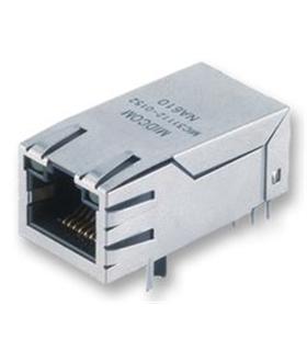 7499111447 - Ficha Rede RJ45 8p Circuito Impresso C/LED - MX7499111447