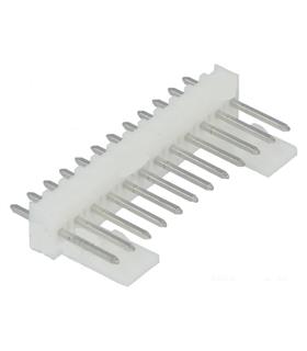 Ficha Pin Socket 12P  Macho p/ C.I. - Pitch 2.54mm - 69PS12MCI