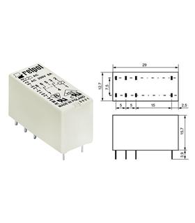 RM84-2012-35-1018 - Rele 18V 8A 2 Inversores - RM842012351018