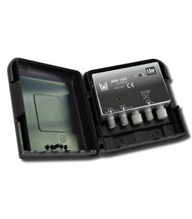 Amplificador 1 entrada, UHF G=20 dB, rejeição LTE - AM-160