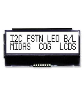 MCC0G21605C6W-FPTLWI - Alphanumeric LCD, 16x2, Black/ White - MCCOG21605C6W