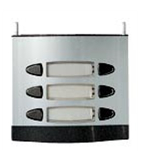 Módulo com 3 pulsadores duplos, 2 fios L201 - MPD-103