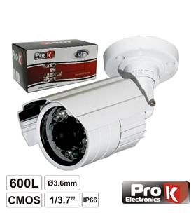 CVC027LA - Camara vigilancia ext ip66 3.6mm 420tvl ir20mts - TI4