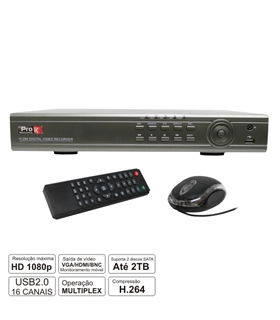 VÍDEO-GRAVADOR DIGITAL 16 CANAIS H264 HDMI ETHERNET - DVR16DK