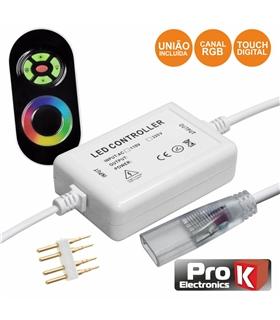 Controlador Para Fita Led RGB 220v com Comando RF - CFL31RGB220