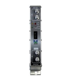 Amplificador monocanal UHF Adjacente, G=52db. saida 123db - ZG-431