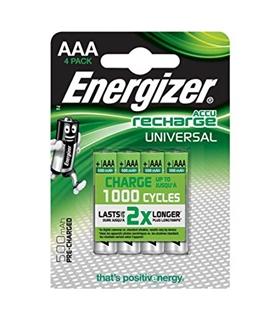 Pilha recarregavel LR03 AAA - 500mAh Energizer Pack 4 - AAAHR03