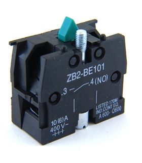 ZB2BE101 - Bloco Contacto, 1NO, 6 A, 400 V, 1 Pole - ZB2BE101