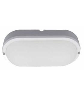 Painel LED Ovar Aplique 12W 180mm 900lm Branco Natural - APLOV1218NW