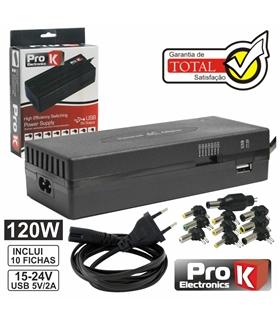 Alimentador Regulavel 15-24V 6A Com USB - ACK120WUSB