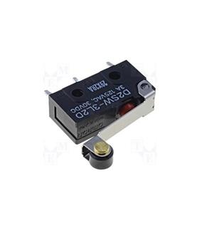 DS2W-3L2D - Microswitch Médio Com Rolete Para CI - D2SW3L2D
