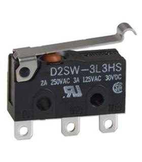 D2SW-3L3H - Microswitch Spdt 3A Com Patilha - D2SW-3L3H