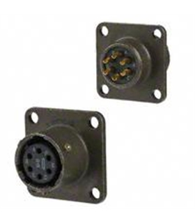 MS3112E10-6S - Conector Femea 6 Pinos Painel - MS3112E10-6S