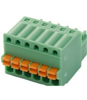FK-MC 0.5/6-ST-2.5 - Pluggable Terminal Block, 2.5 mm 6 Ways - FKMC056ST25