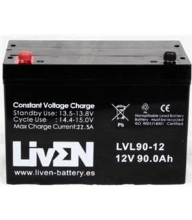 Bateria Gel Chumbo 12V 90A - 1290