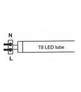 Lâmpada LED T8 100cm 15W 4000K 1500lm bilateral - c/ pinos - MX3062234