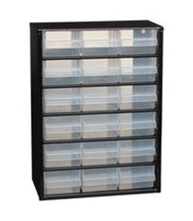 Armário Organizador em Metal 18 Gavetas 150x420x306mm - 132022