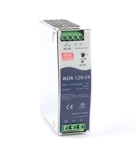 WDR-120-24 -  Fonte de Alimentaçao Calha 120 W, 24 V, 5 A - WDR12024