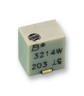 3214W-1-101E - Potênciometro, 100R, 5 Voltas, SMD, 250mW - 3214W1101E